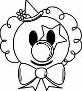Clown Coloring Face Cartoon Drawing Getdrawings sketch template