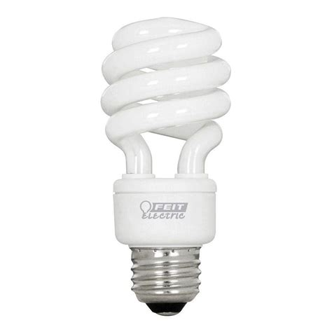 feit light bulbs feit electric 60w equivalent soft white 2700k spiral cfl