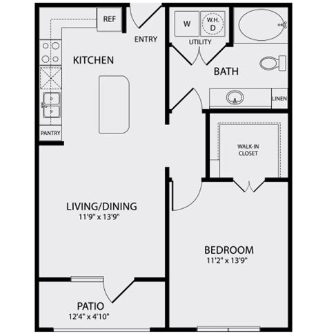 2 Bedroom 1 Bath Floor Plans by Floor Plans Pearl Midtown Studio 1 2 Bedroom Apartments