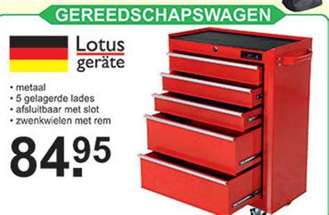 karwei gereedschapswagen lotus gereedschapswagen folder aanbieding bij van