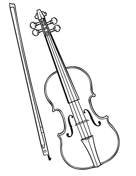 violin coloring page coloring coloring pages