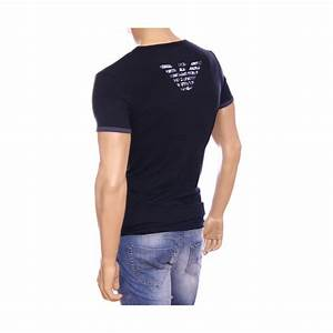 T Shirt Pour Homme : t shirt emporio armani bleu manches courtes pour homme ~ Farleysfitness.com Idées de Décoration