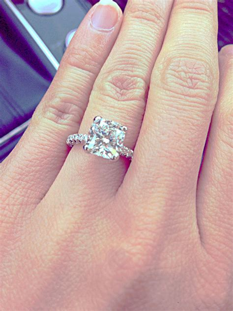 3 carat cushion cut solitaire flawless no halo a