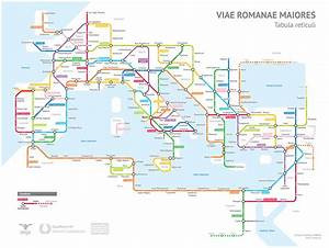 Fantasy map roman roads in 125ad as a subway map for Roman roads transit map
