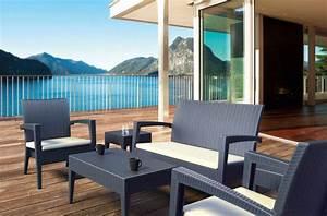 Salon De Jardin Terrasse : am nager et d corer terrasse balcon et jardin pour profiter des beaux jours darty vous ~ Teatrodelosmanantiales.com Idées de Décoration