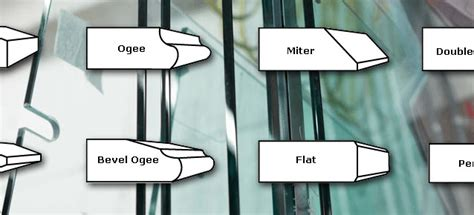 differences  seamed  polished edges pioneer glass