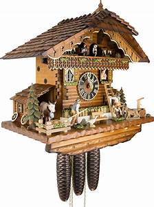 cuckoo, clock, 8-day-movement, chalet-style, 44cm, by, h, u00f6nes