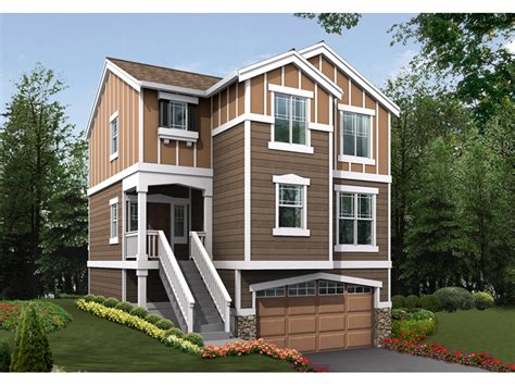 Nona Heights Narrow Lot Home Plan D House Plans And More