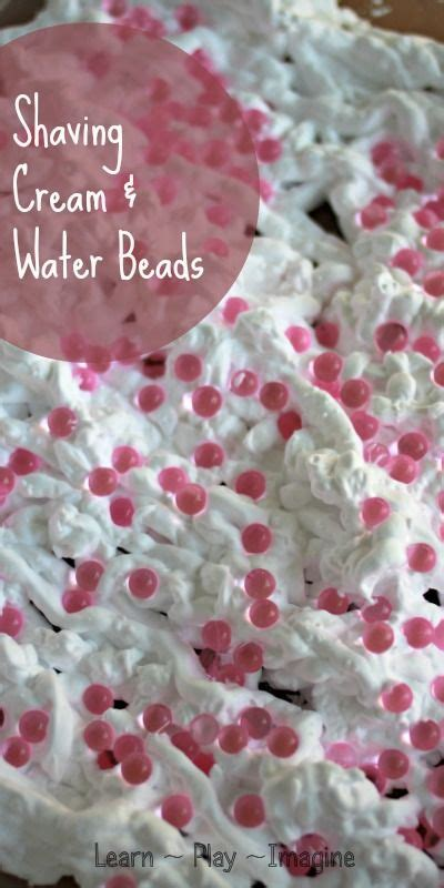 Sensory Activity with Shaving Cream and Water Beads ...