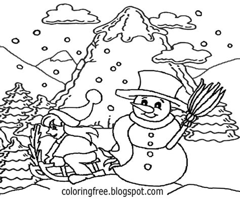 Winter Village Coloring Pages At Getcolorings.com