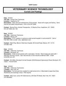 Veterinary Tech Resume Exle by Best Photos Of Template Of Description For Vet Tech