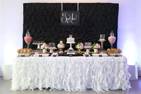 black and white candy table black and white sweet table pictures to pin on pinterest