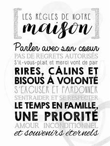 Regle De La Maison A Imprimer : affiche personnalis e les r gles de la maison la craie co ~ Dode.kayakingforconservation.com Idées de Décoration