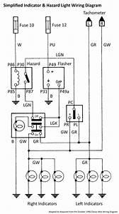 Simplifiedindicator  U0026 Hazard Light Wiring Diagram