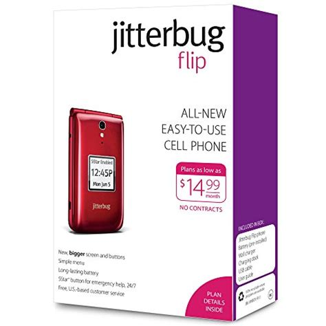 jitterbug cell phone greatcall jitterbug flip easy to use cell phone for