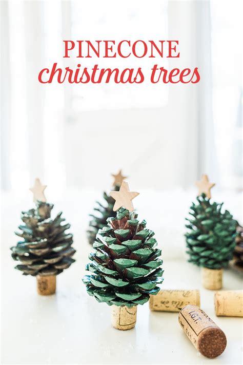 pinecone christmas trees babble