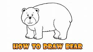 How to Draw bear - Easy step-by-step drawing lesson for ...