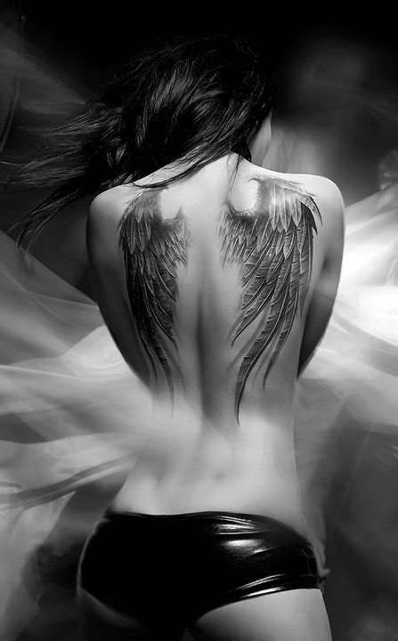 Angel Wing Back Tattoos ~ Women Fashion And Lifestyles