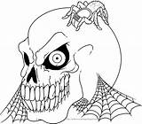 Halloween Colorings Skeleton Coloring Pages Adult Printable Colouring Skeletons Skull Scary Books Printables Vampire sketch template