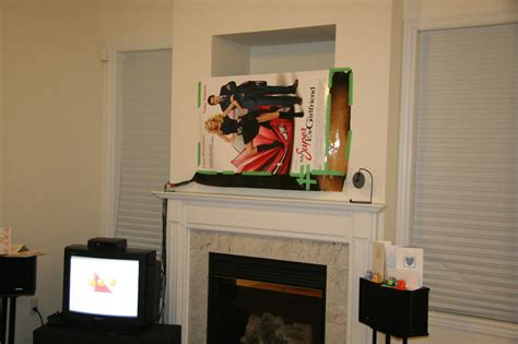 What To Do With Tv by Diy Installing 46 Inches Lcd Tv Above The Fireplace And