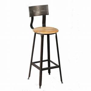 Chaise De Bar Industriel : chaise de bar jack univers de la salle manger tousmesmeubles ~ Teatrodelosmanantiales.com Idées de Décoration