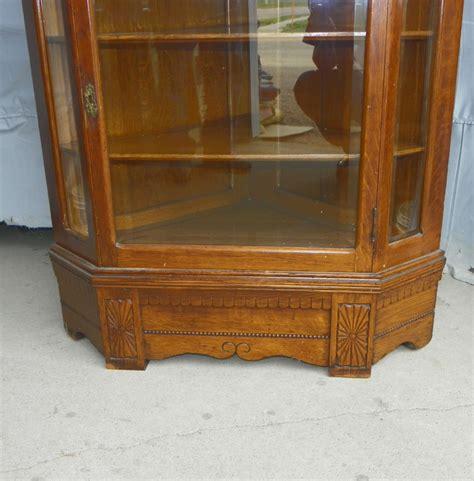 antique oak corner china cabinet bargain s antiques 187 archive antique oak corner 7482