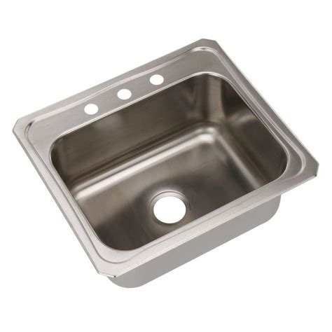 one bowl kitchen sink swan dual mount composite 25 in 1 hole single bowl