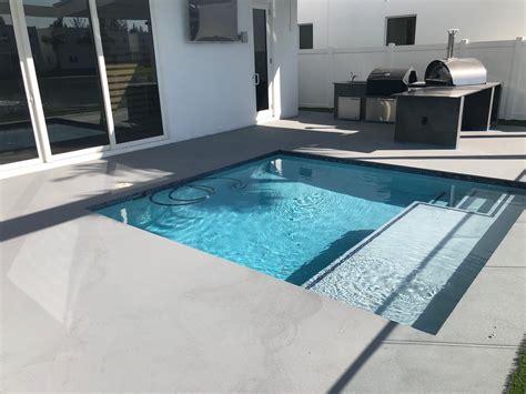 micro quartz  pool deck polished concrete micro