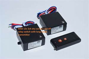 12v 2 Channels On Off Dry Contact Relay Long Range Remote