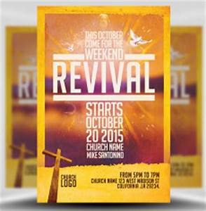 church flyer templates for photoshop flyerheroes With free church revival flyer template