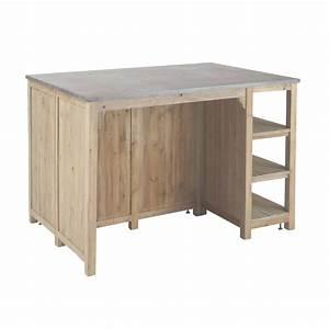 meuble cuisine ilot central sur mesure cuisine in meuble With chaise pour ilot de cuisine