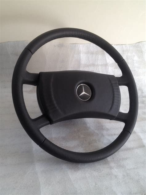 mercedes  sl slc steering wheel leather perforated