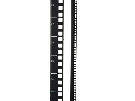 networx  post adjustable depth open frame network rack  cold rolled steel  cage nut