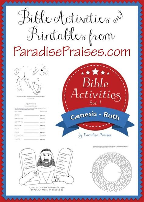 free bible set 1 genesis ruth printable activities for 961   87205f7225ef9d45159f625884ebd60f