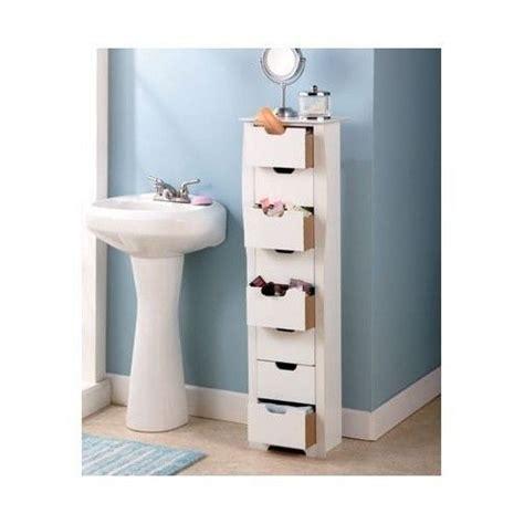 Small Thin Bathroom Cabinet by Bathroom Storage Cabinet Slim White 8 Drawer