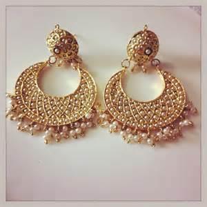 hindu wedding attire white pearl chand bali with meenakari work online shopping