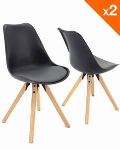 Chaise Bébé Scandinave : chaise scandinave avec coussin lot de 2 98 9 clea ~ Teatrodelosmanantiales.com Idées de Décoration