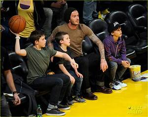 David Beckham: Lakers Game with the Boys! - David Beckham ...