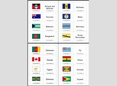 Commonwealth Flag Matching Game Flash Cards