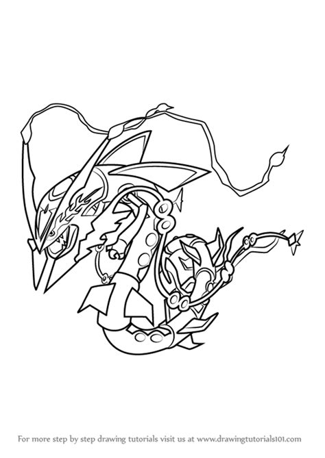 Kleurplaat Avalugg by Learn How To Draw Mega Rayquaza From