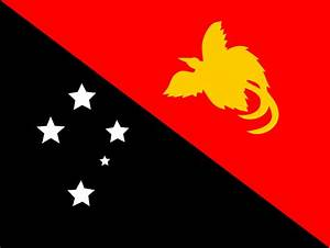 OnlineLabels Clip Art - Flag Of Papaua New Guinea