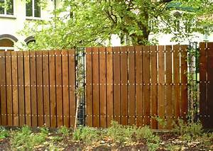 Holz Künstlich Vergrauen : sichtschutzzaun holz mit metallpfosten ~ Frokenaadalensverden.com Haus und Dekorationen