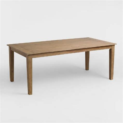distressed wood dining table distressed wood harrow dining table world market 7814