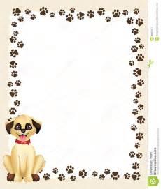 Dog Paw Print Border Frame