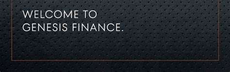 genesis finance login   account