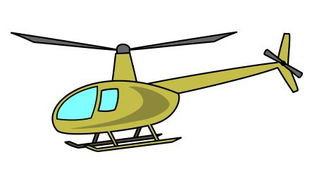 drawing  cartoon helicopter