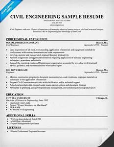 Civil Engineering Resume Sample resume panion