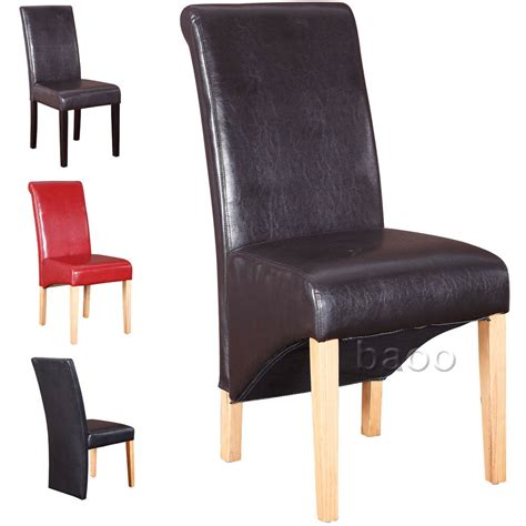 dining chairs quality pu faux leather dining room chair