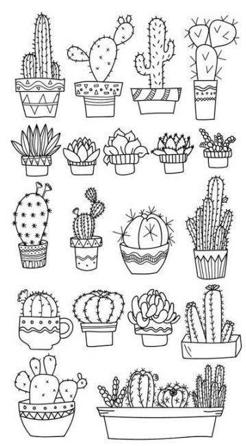 29 mewarnai gambar bunga kaktus