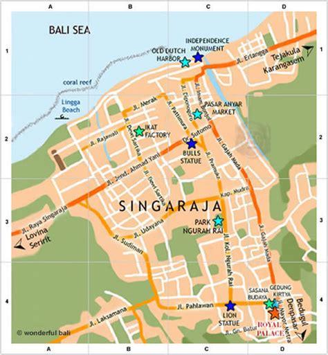 singaraja map  streets  places